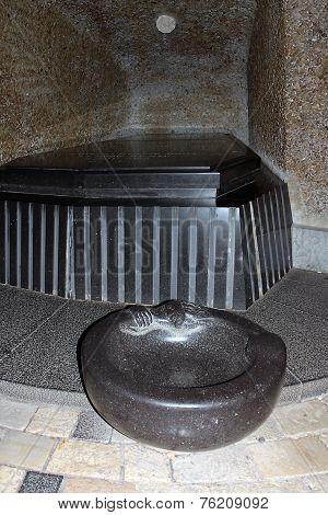Black Granite Tombstone In The Family Vault Of Baron Rothschild