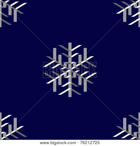 Snowflakes, seamless