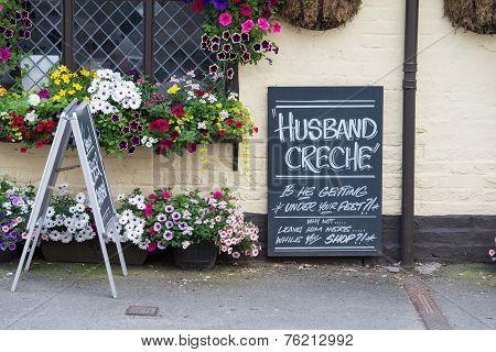 Husband Creche Sign