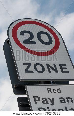 20 Mph Road Sign