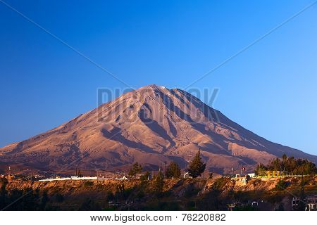 Misti Volcano at Arequipa, Peru
