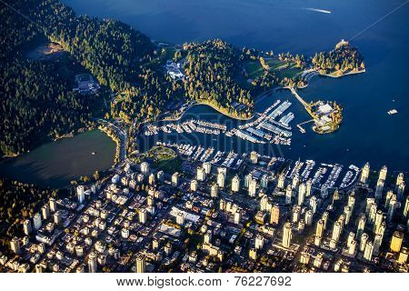 Vancouver and Stanley Park areal view