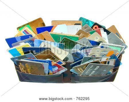 Brieftasche strotzt vor credit