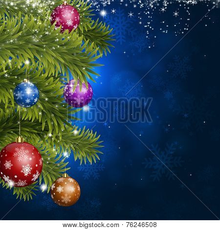 Blue Christmas Fir-tree Decoration