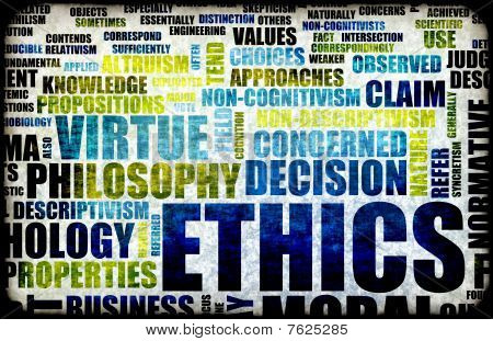 Ethics Concept Idea as a Background Illustration poster