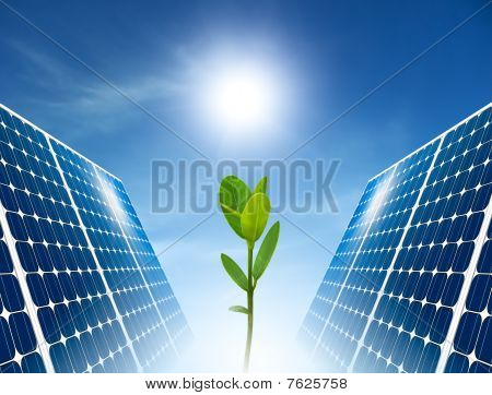 Concept Of Solar Panel. Green Energy.
