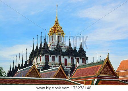 Bangkok's Loha Prasat Or Metal Castle In Thailand