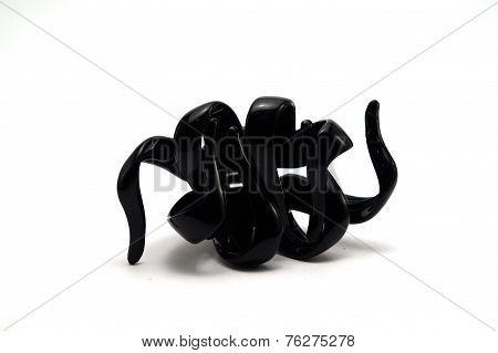 Black Bulldog Hair Clip