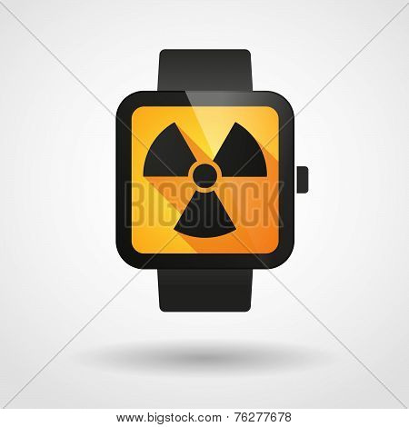 Smart Watch Icon With A Radioactivity Sign