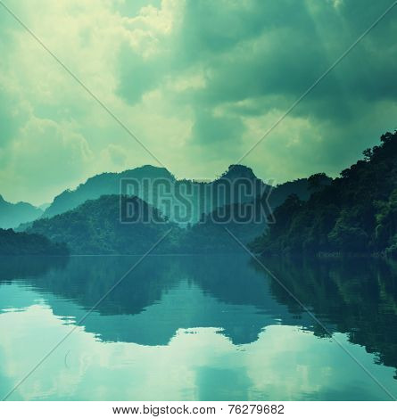 Serenity BaBe Lake in Vietnam
