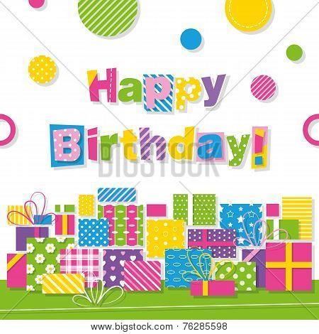 happy birthday presents greeting card