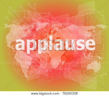 Applause Word Poster Concept. Financial Support Message Design