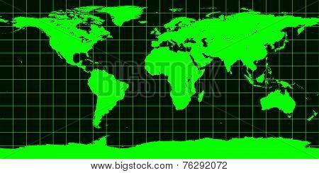 Worldmap In Green