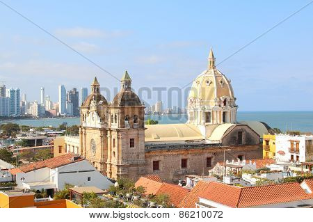Church Of St Peter Claver In Cartagena, Colombia