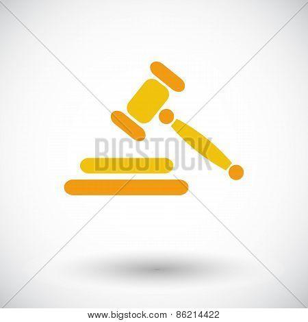 Auction flat icon