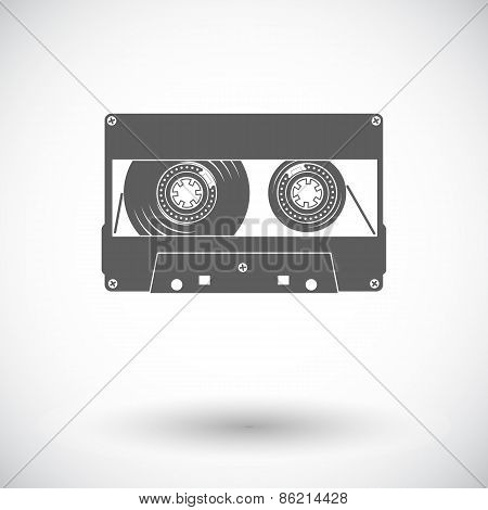 Audiocassette single icon.