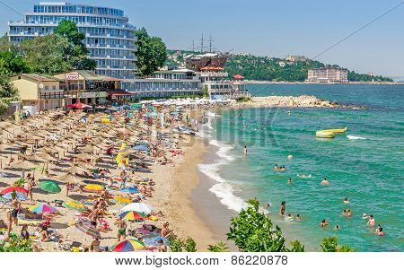 Crowded Beach in Bulgaria