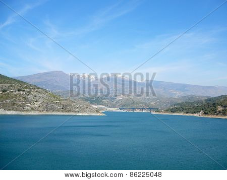 Reservoir In Alpujarra Region, Andalucia