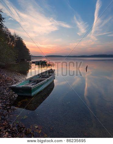 Beautiful Lake Sunrise Landscape