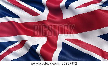 Beautiful flag of the United Kingdom waving in the wind