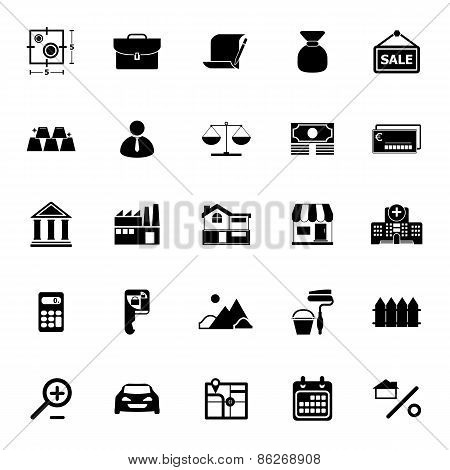 Mortgage And Home Loan Icons On White Background
