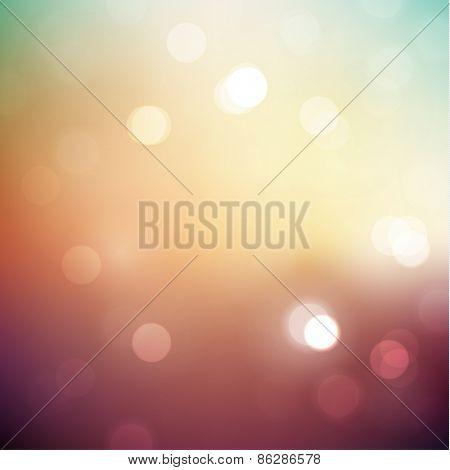 Colorful defocused lights background - raster version