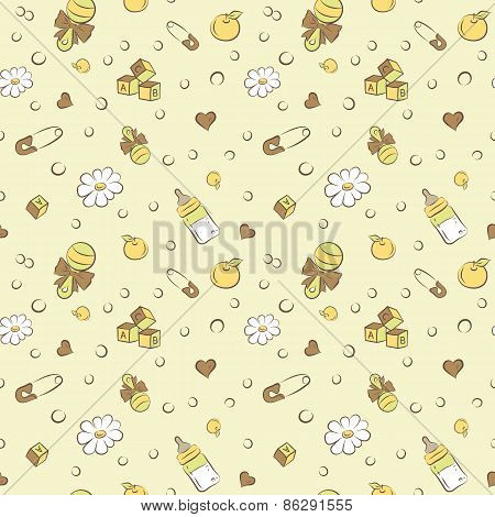 rattles and pacifiers cubes pattern