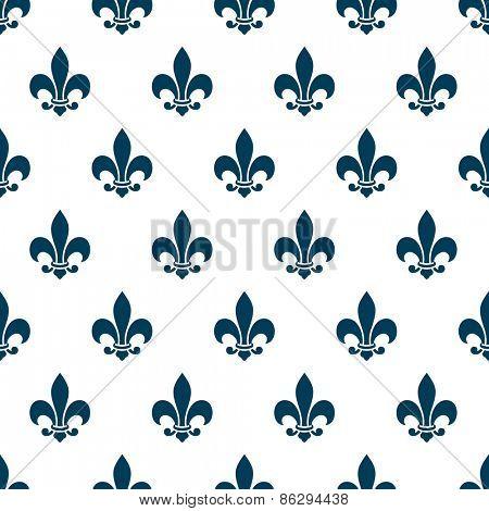 Fleur de lys seamless pattern. Endless vector background