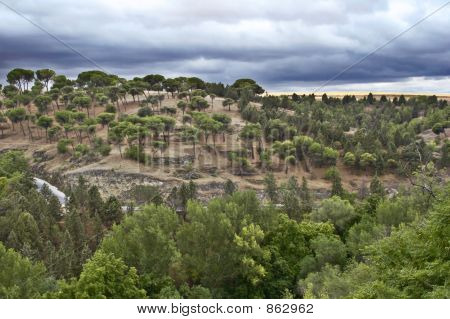 View to suburbs of Segovia