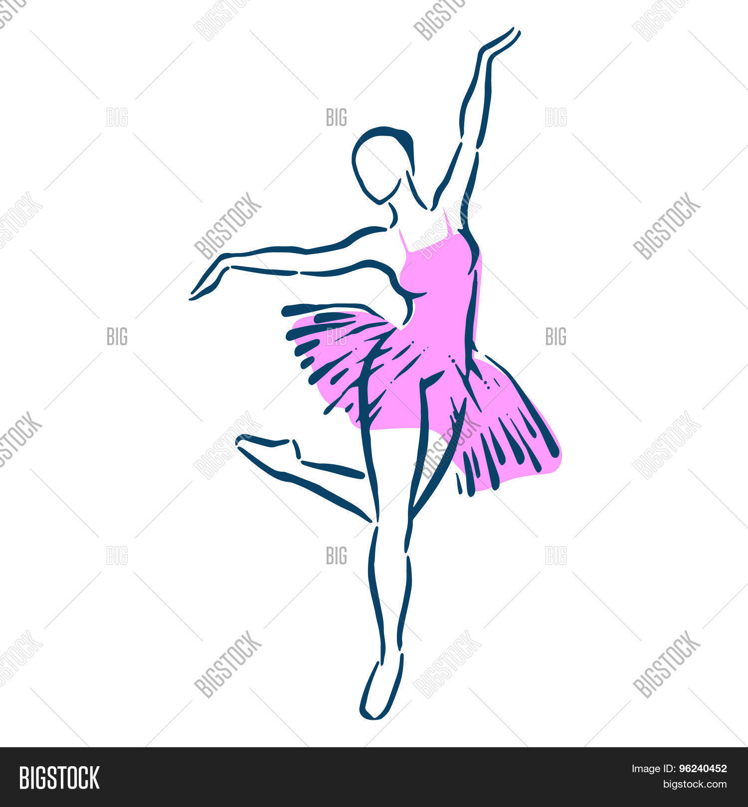 Ballerina Vector & Photo (Free Trial)   Bigstock
