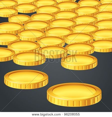 gold coin a lot