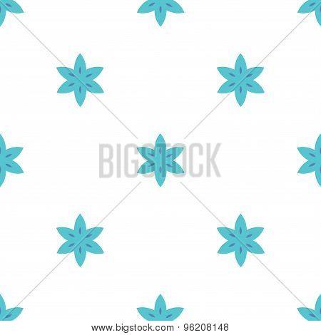 Simple flowers seamless pattern