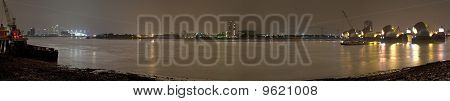 Thames Barrier and Docklands Panoramic