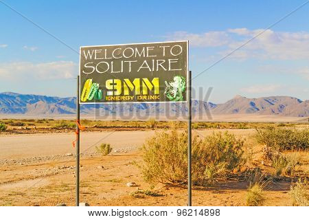 Solitaire Welcome Sign In Namibia