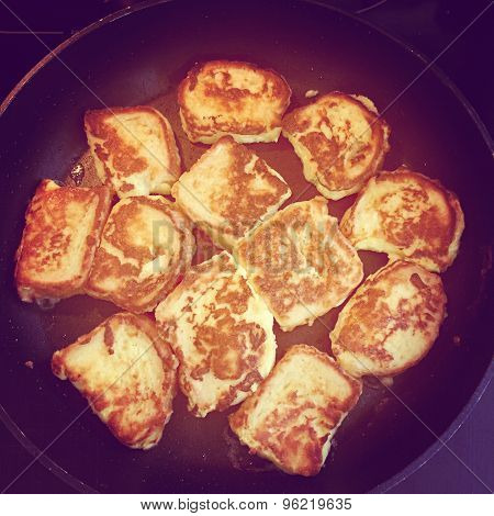 Intstagram Of French Toast Cooking On Pan