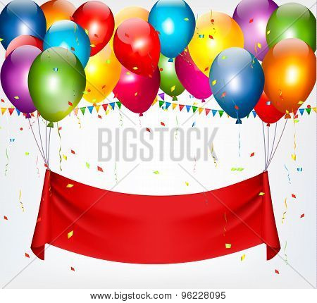 Happy Birthday Banner Background. Vector.