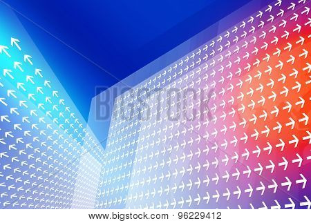 Abstract Background Of Comunication In Modern World