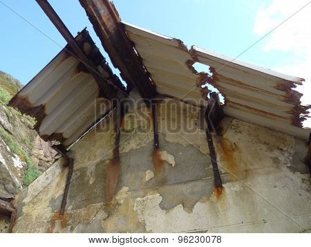 Derelict Coastal Building Roof