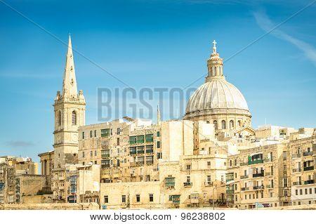 Detail Postcard Of Old Town La Valletta - Capital Of World Famous Mediterranean Island Of Malta