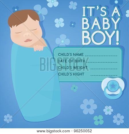 Baby message card