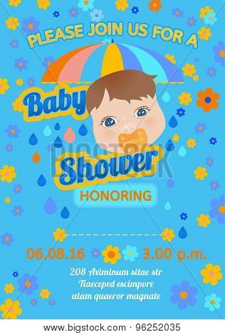 Baby shower message card