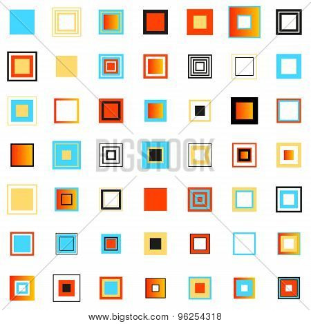 Colored Squares. Set Of Design Elements