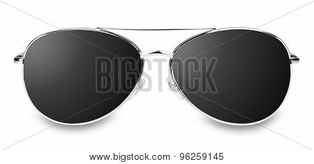 isolated black glasses