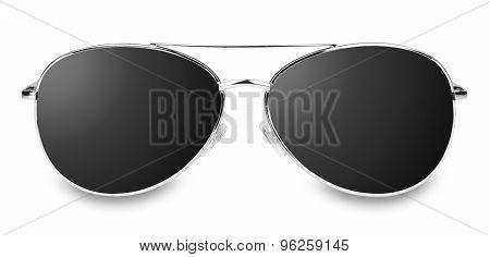 isolated black glasses