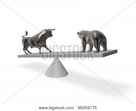 Bear Market Exchange Abstract Financial Concept.