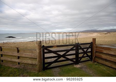 View Of The Big Strand Beach, Laggan Bay, Islay, Scotland.