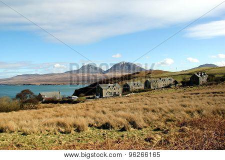 View Towards Jura From Bunnahabhain, Islay, Scotland.