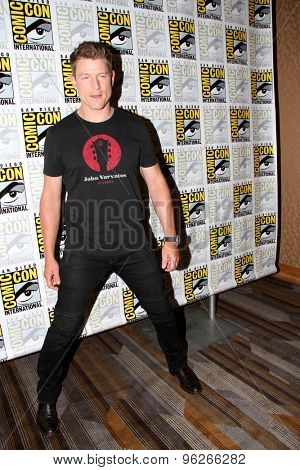 SAN DIEGO, CA - JULY 9: Phillip Wnchester arrives at the 2015 Comic Con press room for