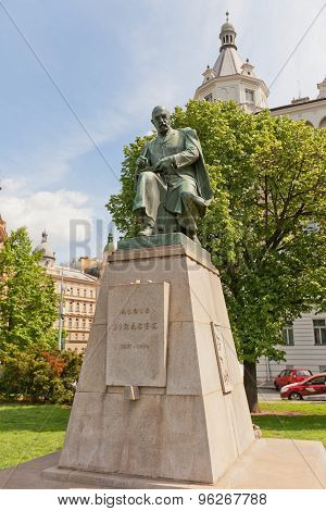 Monument To Czech Writer Alois Jirasek In Prague
