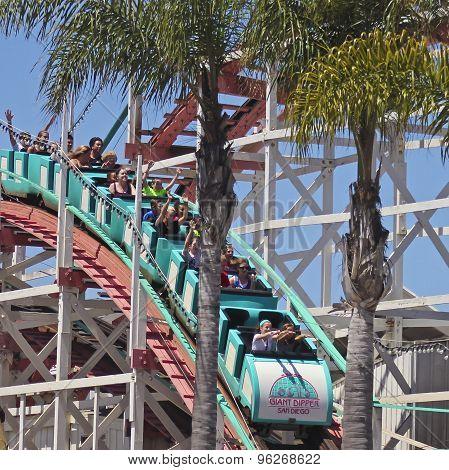 A Giant Dipper Ride, Belmont Park, San Diego